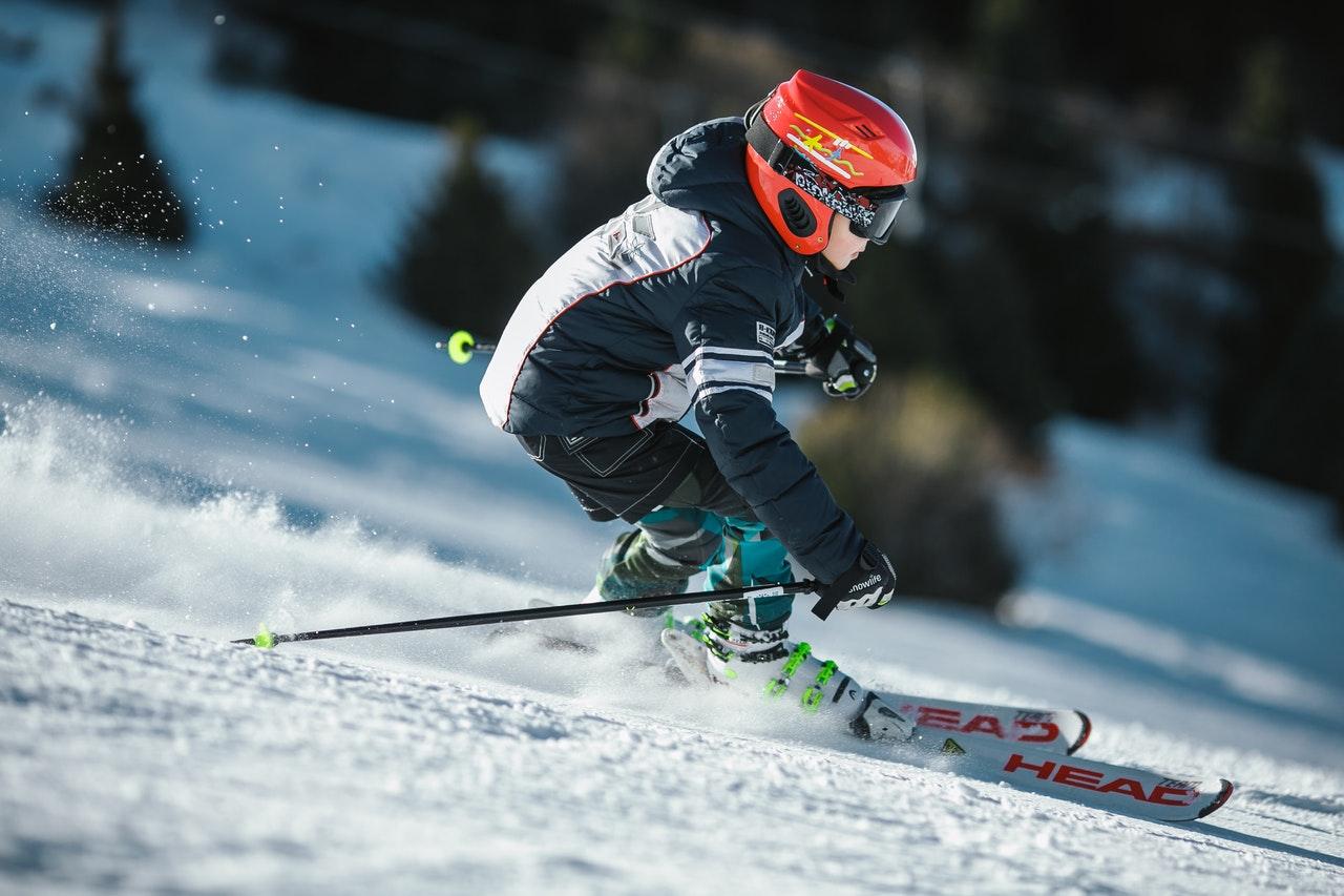 skier going down Shawnee Mountain Ski Resort